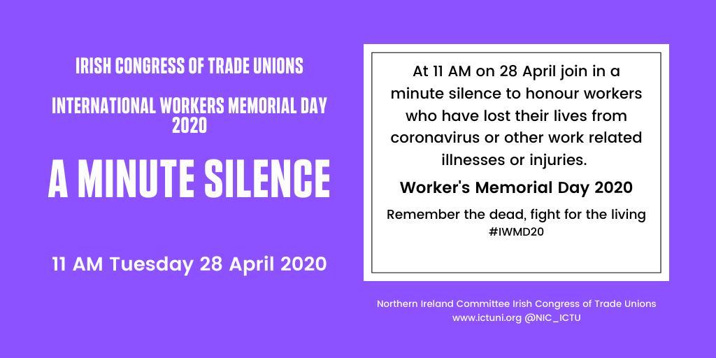 International Workers Memorial Day (28th April)