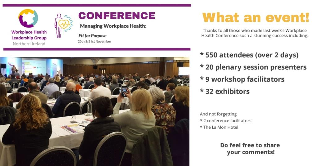 Workplace Health Conference a huge success.